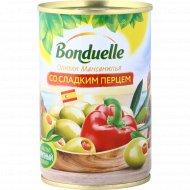Оливки «Bonduelle» со сладким перцем, 300 г.