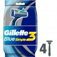 Бритвы одноразовые «Gillette» Blue Simple 3, 4 шт.