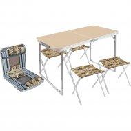 Комплект мебели «Ника» ССТ-К2, кофе с молоком/сафари