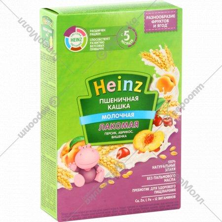 Каша «Heinz» пшеничная персик, абрикос, вишенка, 200 г