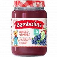 Пюре из яблок и черники «Bambolina» 190 г.
