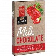 Молочный шоколад «Томер» c клубникой, 90 г