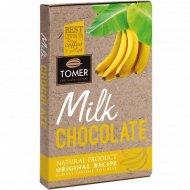 Молочный шоколад «Tomer» c бананом, 90 г.