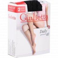 Гольфы женские «Giulietta» Nero, 40 den, размер 23-25, фасовка 46 кг