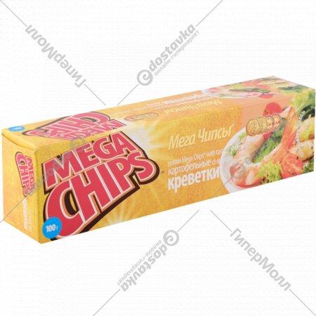 Чипсы «Mega Chips» со вкусом креветки 100 г.