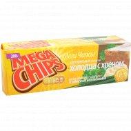 Чипсы картофельные «Mega Chips» холодец с хреном, 200 г.