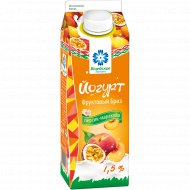 Йогурт «Фруктовый бриз» персик-маракуйя, 1.5%, 500 г.