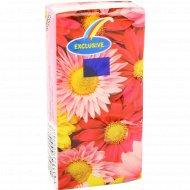 Салфетки «Цветочный микс» 200x200 мм, 10 платочков.