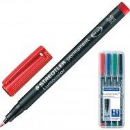 Набор перманентных маркеров «Staedtler» Люмоколор M, 317-WP4, 4 цвета