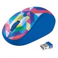 Мышь «Trust» PRIMO Wireless Mouse Blue Geometry.