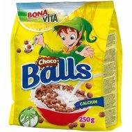Сухие завтраки «Bonavita» шарики шоколадные, 250 г.