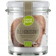 Масло кокосовое «CocoFarm» нерафинированное, 100% BIO, 240 г.