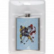 Фляжка металлическая «Хоккей» 230 мл.