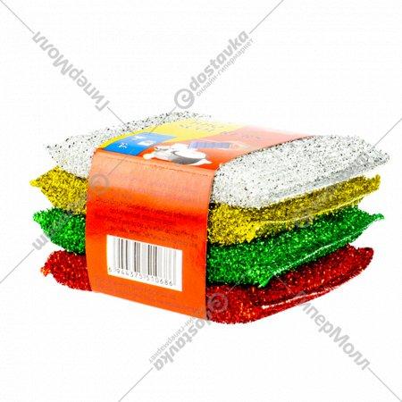 Набор губок кухонных, 11.7 х 8.5 х 1.7 см, 4 шт., OE-3448.