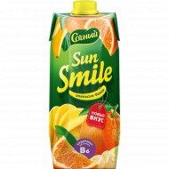 Напиток сокосодержащий «Sun Smile» апельсин-банан, 0.75 л.