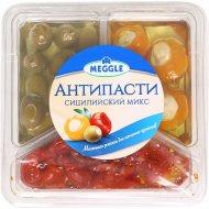 Антипасти «Meggle» сицилийский микс, овощи консервированные, 400 г.
