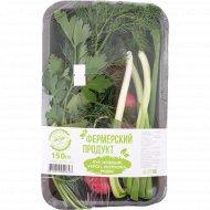 Набор зелени «ЭкоФол» лук, укроп, петрушка, редис, 150 г