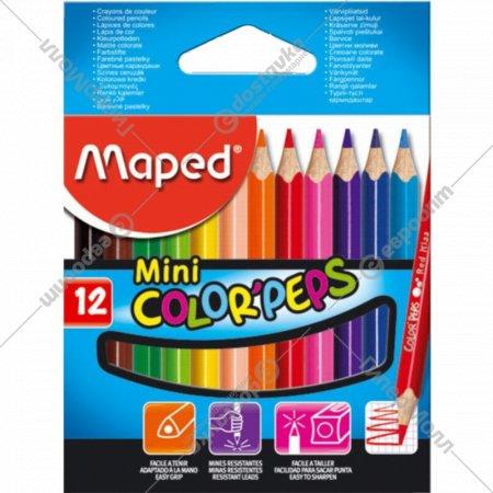 Карандаши «Maped» Color peps, мини, 12 шт