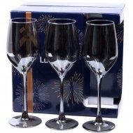 Набор бокалов для вина «Luminarc» Shiny graphite, 6 шт, 270 мл