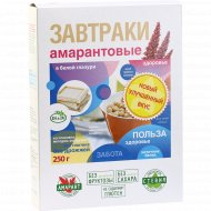 Завтраки амарантовые «Di&Di» в белой глазури, 250 г.