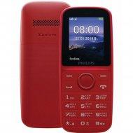 Сотовый телефон «Philips» Xenium E109, красный.