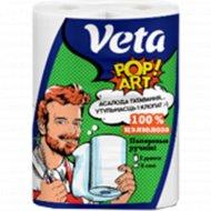 Полотенца бумажные «Veta» Pop Art, 2 рулона.