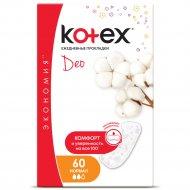 Женские ежедневные прокладки «Kotex Deo» normal, 60 шт.
