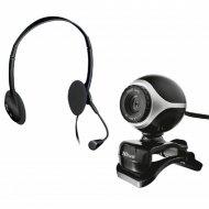 Веб-камера с гарнитурой «Trust» Exis Chatpack C0039138 Black 17028.