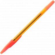 Ручка шариковая, прозрачный корпус.