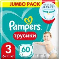 Трусики «Pampers» Pants 6-11кг, размер 3, 60 шт.