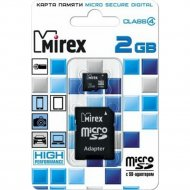 Карта памяти microSD с адаптером «Mirex» 13613-ADTMSD02, 2GB.