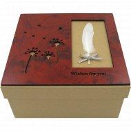 Коробка подарочная из картона, 10-1601-2.