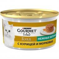 Корм для кошек «Gourmet Gold» нежные биточки, курица и морковь, 85 г