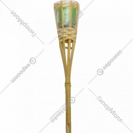 Факел стеклянный в бамбуковом корпусе, 31см.