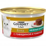 Корм для кошек «Gourmet Gold» нежные биточки, говядина и томат, 85 г.