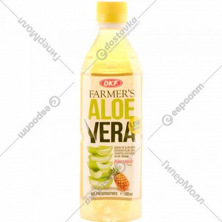 Напиток безалкогольный «Алоэ Вера» с ароматом ананаса, 500 мл.