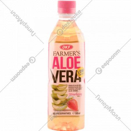 Напиток безалкогольный «Алоэ Вера» с ароматом клубники, 500 мл.