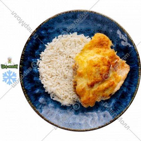 Филе куриное запеченное с ананасом и рисом, 1/120/150 г .