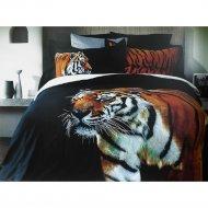 Комплект постельного белья «Lusso» Тигр, двуспальный, D26/19-4007/4476
