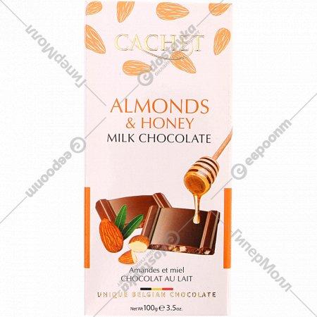 Шоколад молочный «Kim's» с медом и миндалем, 100 г.