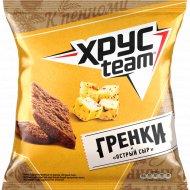 Гренки пшенично-ржаные «Хрусteam» острый сыр, 105 г.