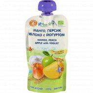 Пюре «Fleur Alpine» манго, персик, яблоко, с йогуртом, 120 г.