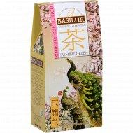 Чай зеленый листовой «Basilur» с жасмином, 100 г.