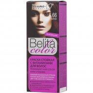Краска стойкая для волос «Belita сolor» 6.66, бордо.