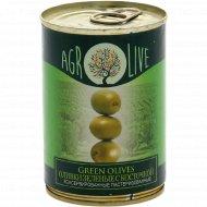 Оливки зеленые «Agrolive» с косточкой, 280 г.