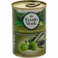 Оливки зеленые «Feudo Veide» c косточкой, 280 г.