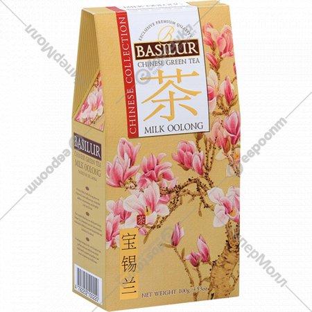 Чай зеленый листовой «Basilur» молочный улун, 100 г.