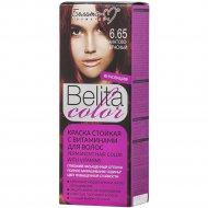 Краска стойкая для волос «Belita сolor» 6.65, гранатово-красный.