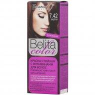 Краска стойкая для волос «Belita сolor»7.42, каштан.