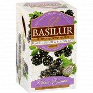 Чайный напиток «Basilur» черная смородина и ежевика, 25 пакетиков.